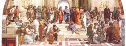 Rafael's School of Athens, depicting Plato's Academy