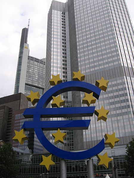 De Europese Centrale Bank (ECB) in Frankfurt