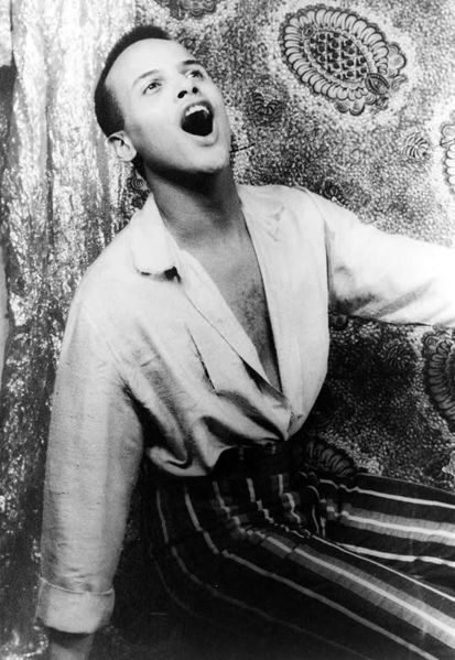 Portrait of Harry Belafonte, singing, 1954 Feb. 18
