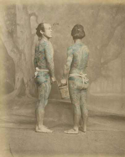 Beato-Felice-1834_1907-Tattooed_japanese_men-1870